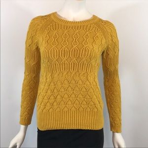 Sparrow Anthropologie Mustard Yellow Knit Sweater